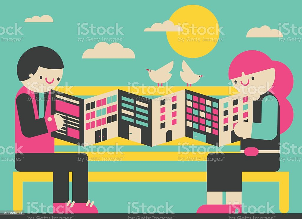 Looking for an Apartment vector art illustration