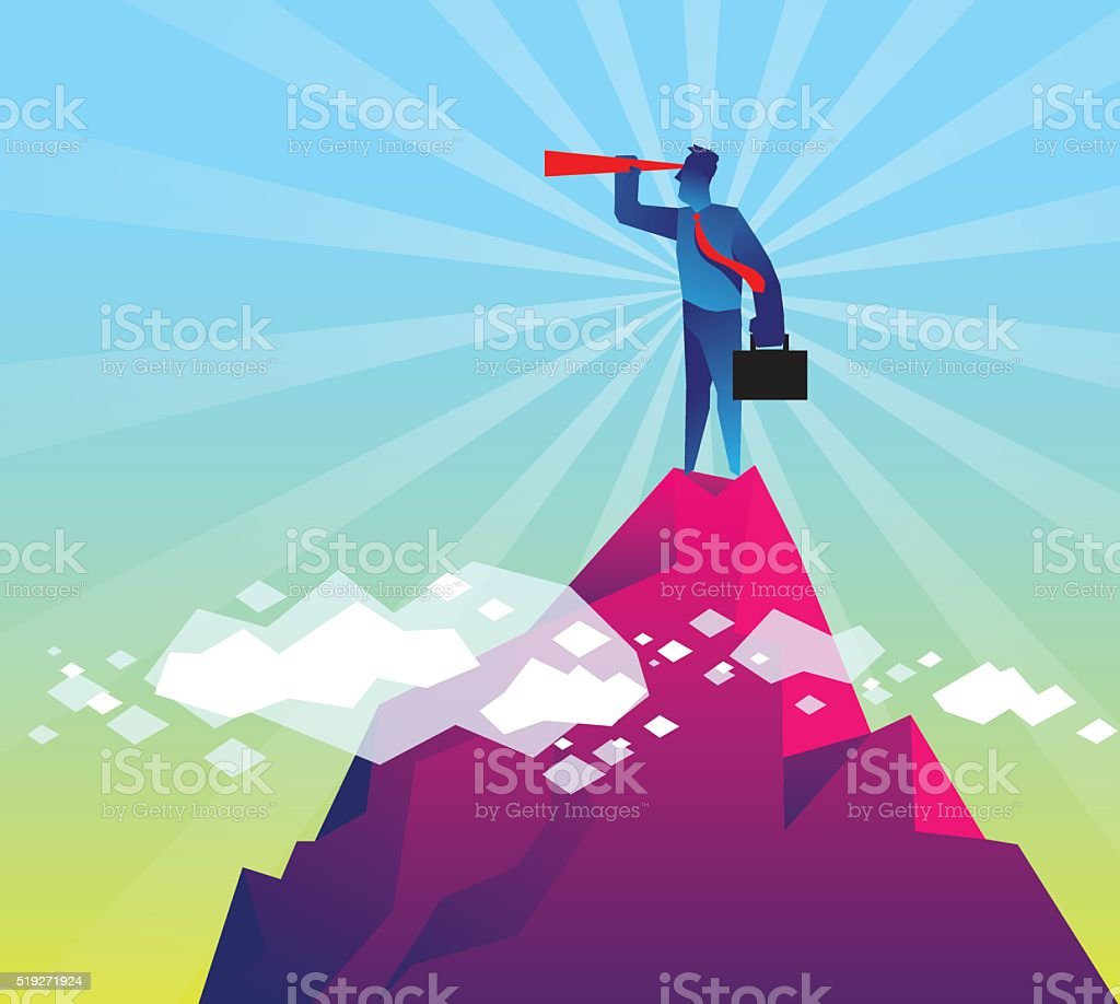 Looking for opportunities vector art illustration