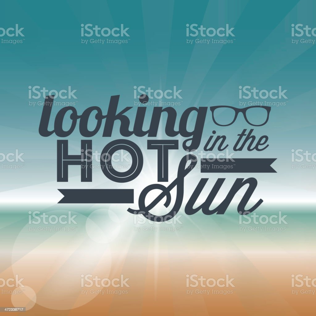 Looking hot in the sun royalty-free stock vector art