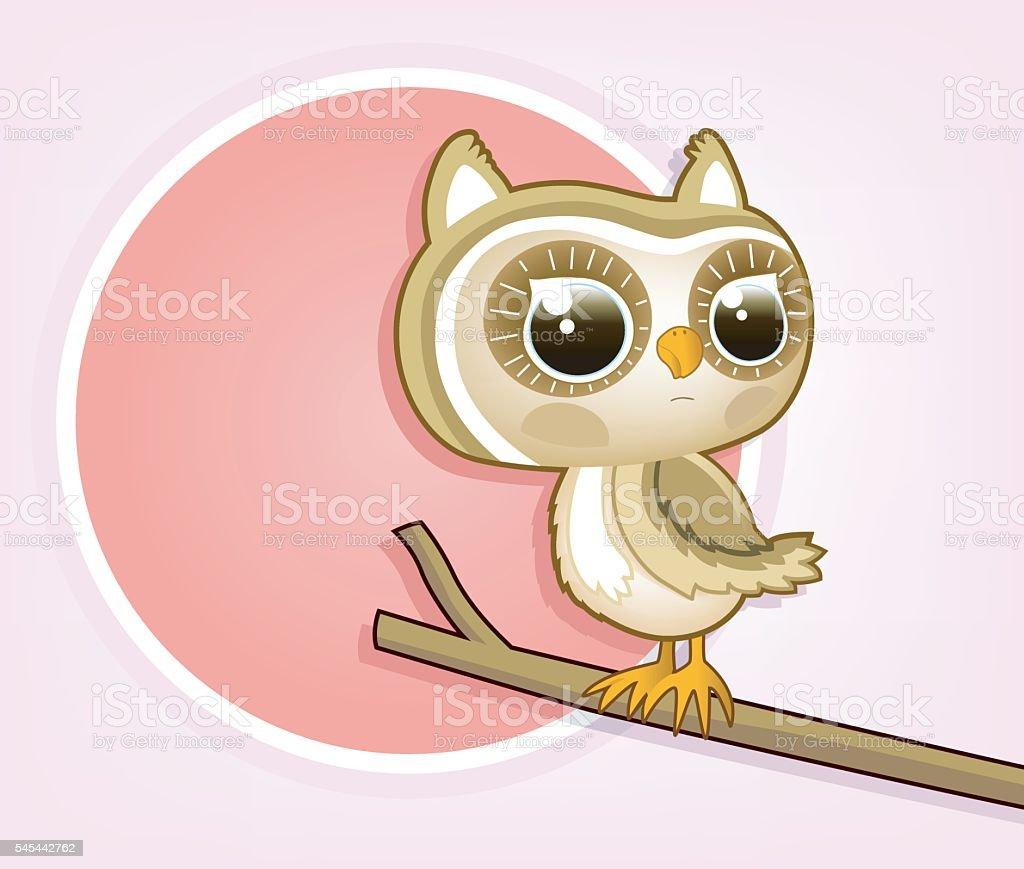 looking owl vector art illustration