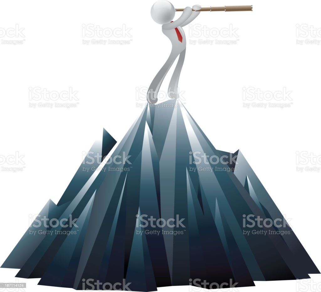 Looking to the future royalty-free stock vector art