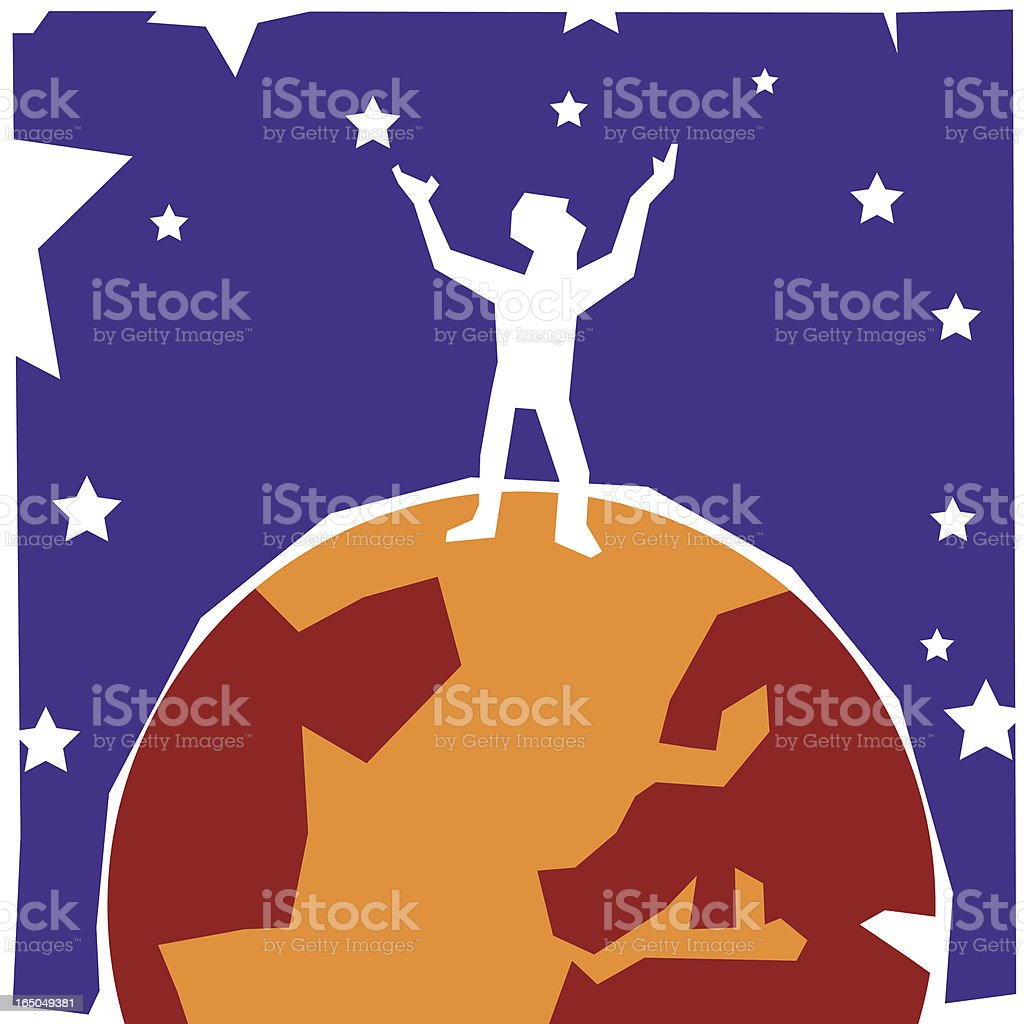 looking up royalty-free stock vector art
