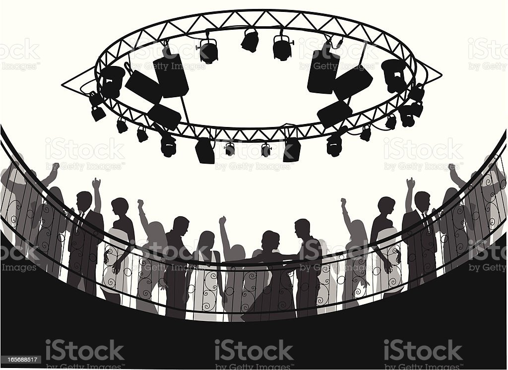 Looking Up Vector Silhouette royalty-free stock vector art