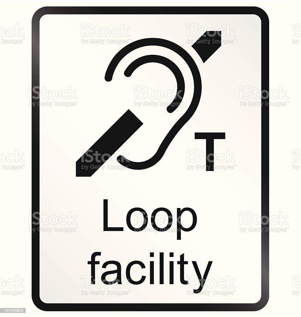 Loop Facility Information Sign vector art illustration