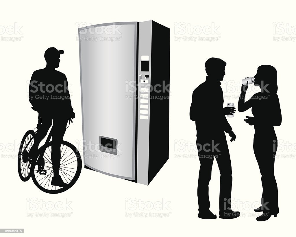 Loose Change Vector Silhouette royalty-free stock vector art