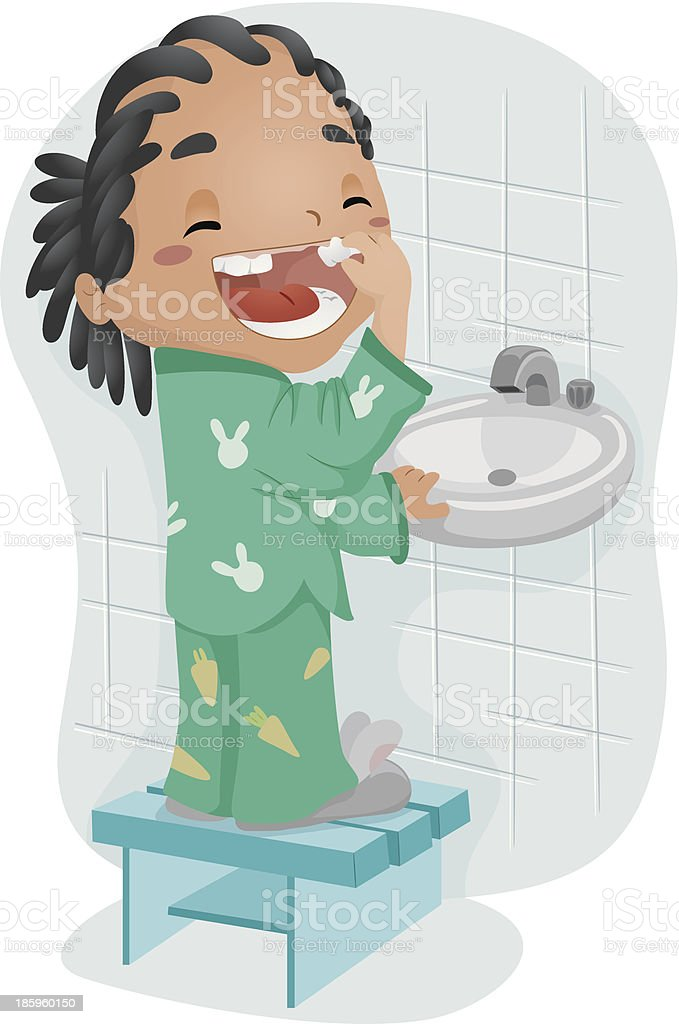 Loose Tooth vector art illustration