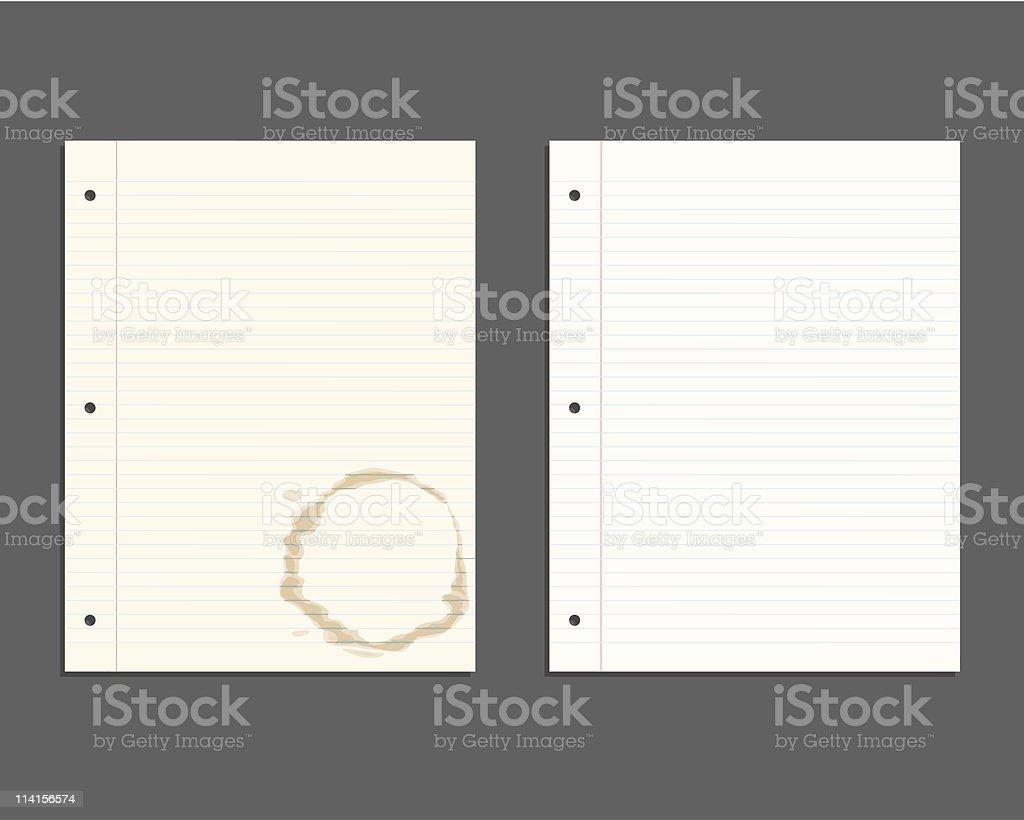Looseleaf Paper royalty-free stock vector art