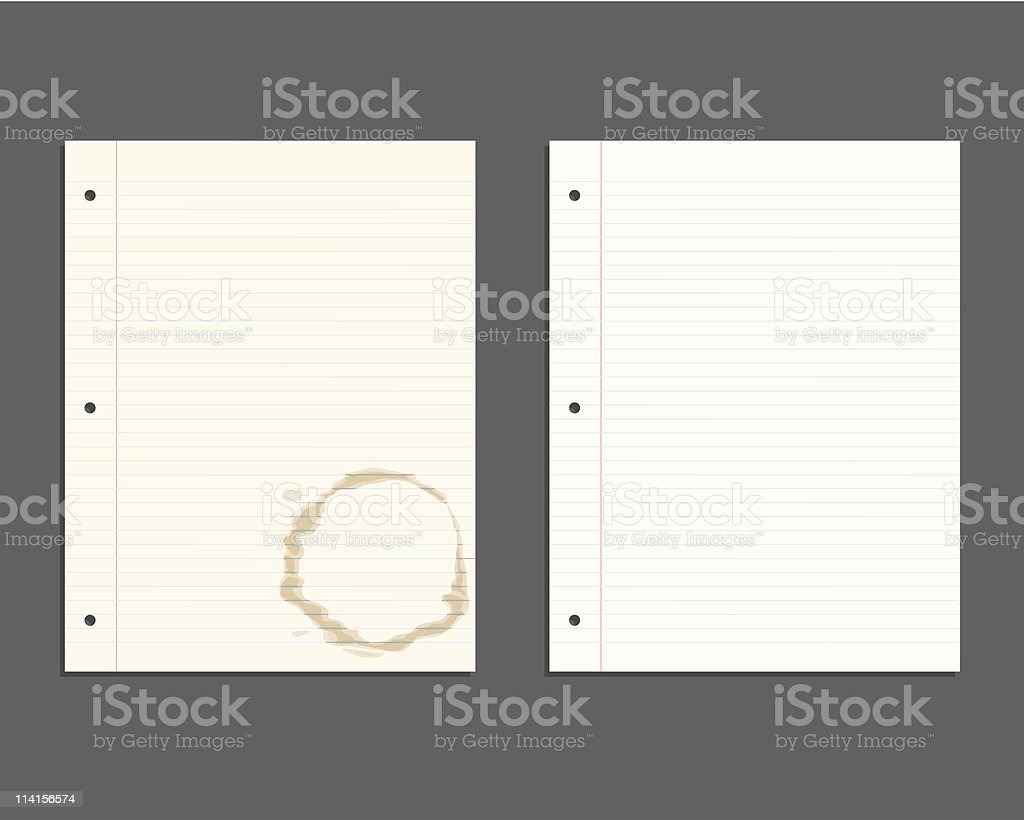 Looseleaf Paper vector art illustration