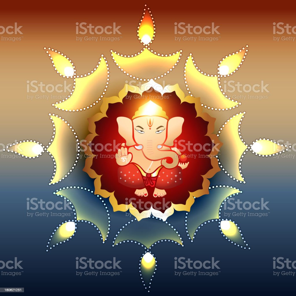 lord ganesh royalty-free stock vector art