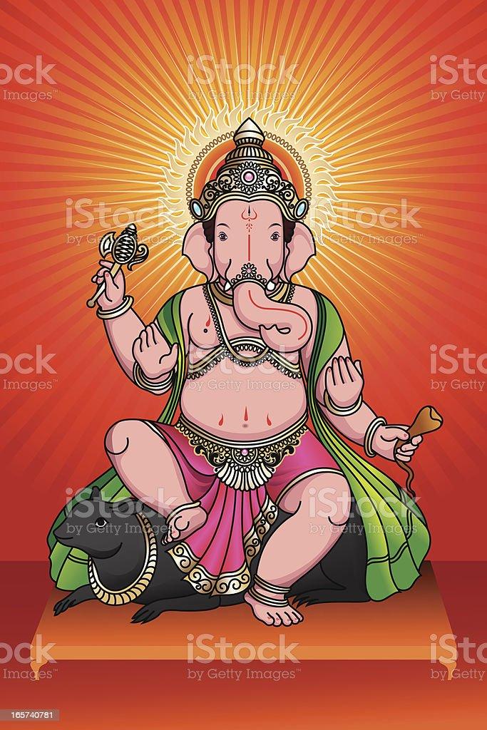 Lord Ganesha royalty-free stock vector art