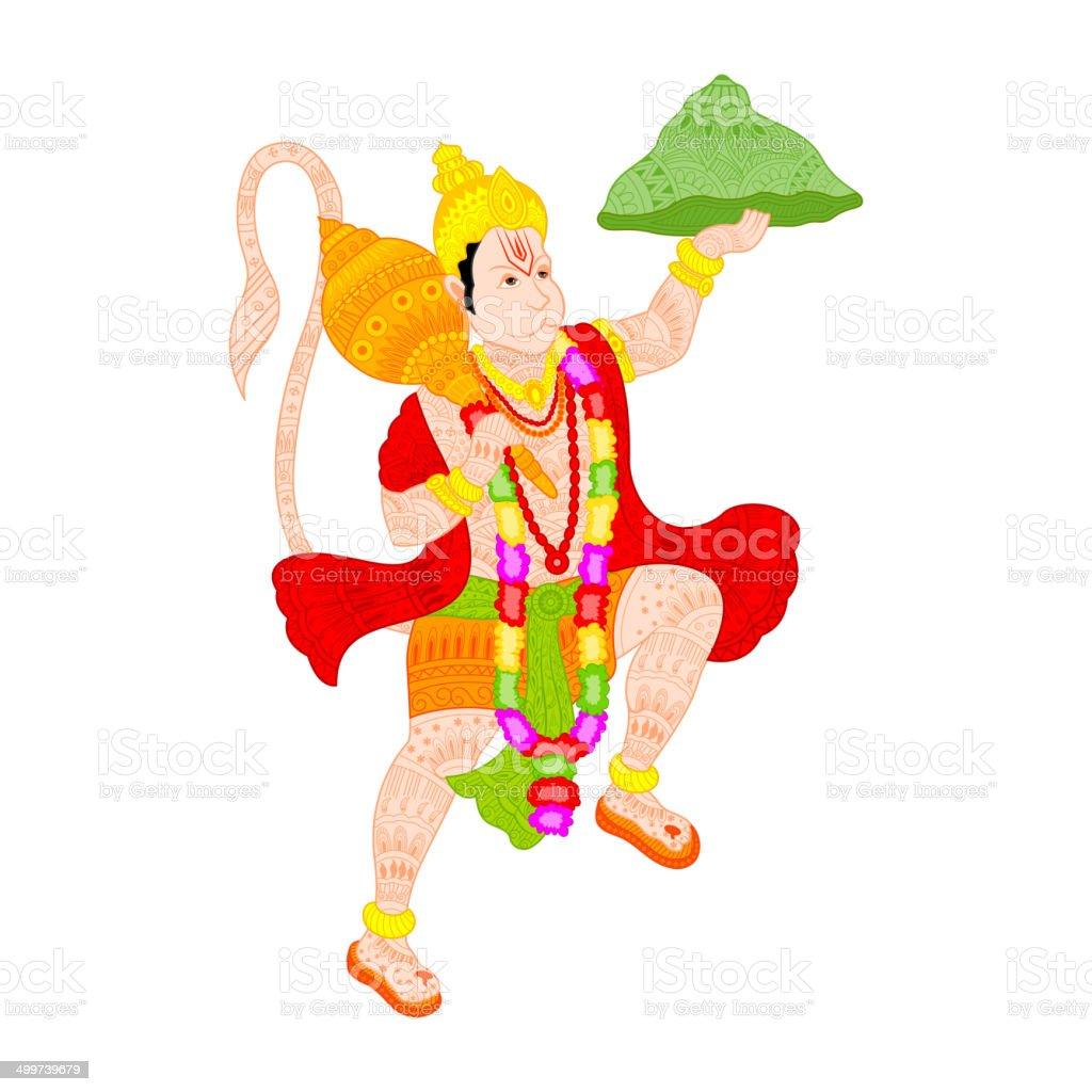 Lord Hanuman vector art illustration
