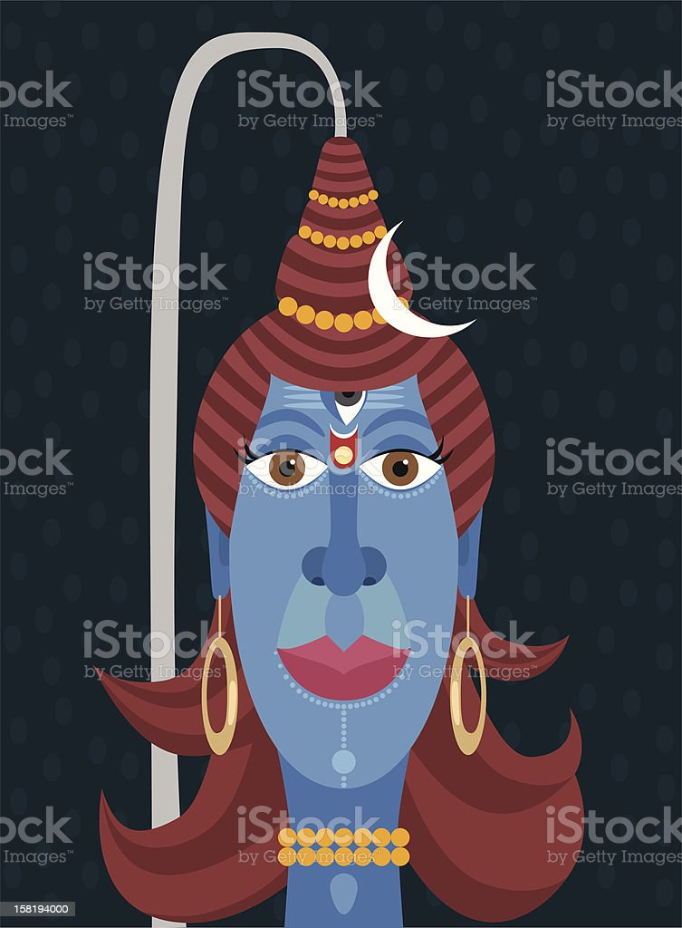 Lord Shiva vector art illustration