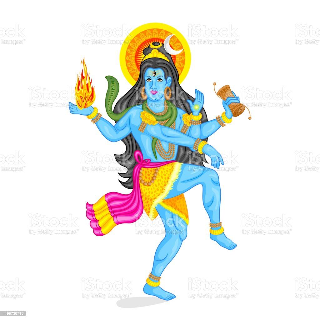 Lord Shiva vector art illustration