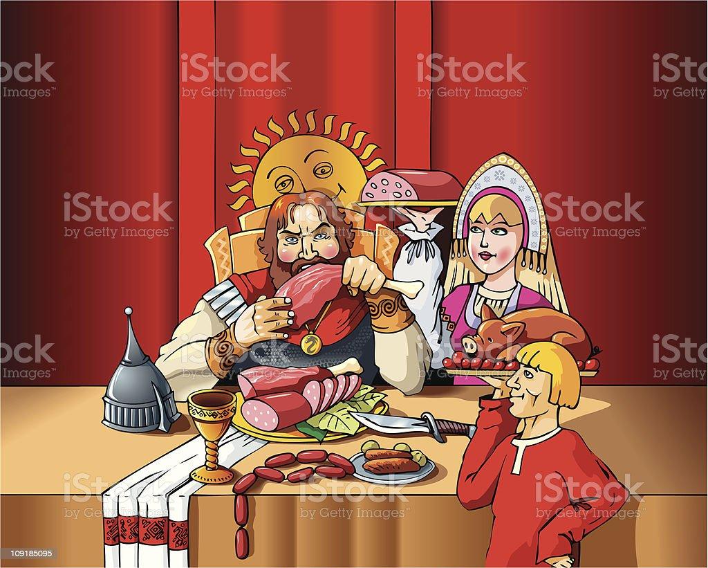Lord's feast vector art illustration