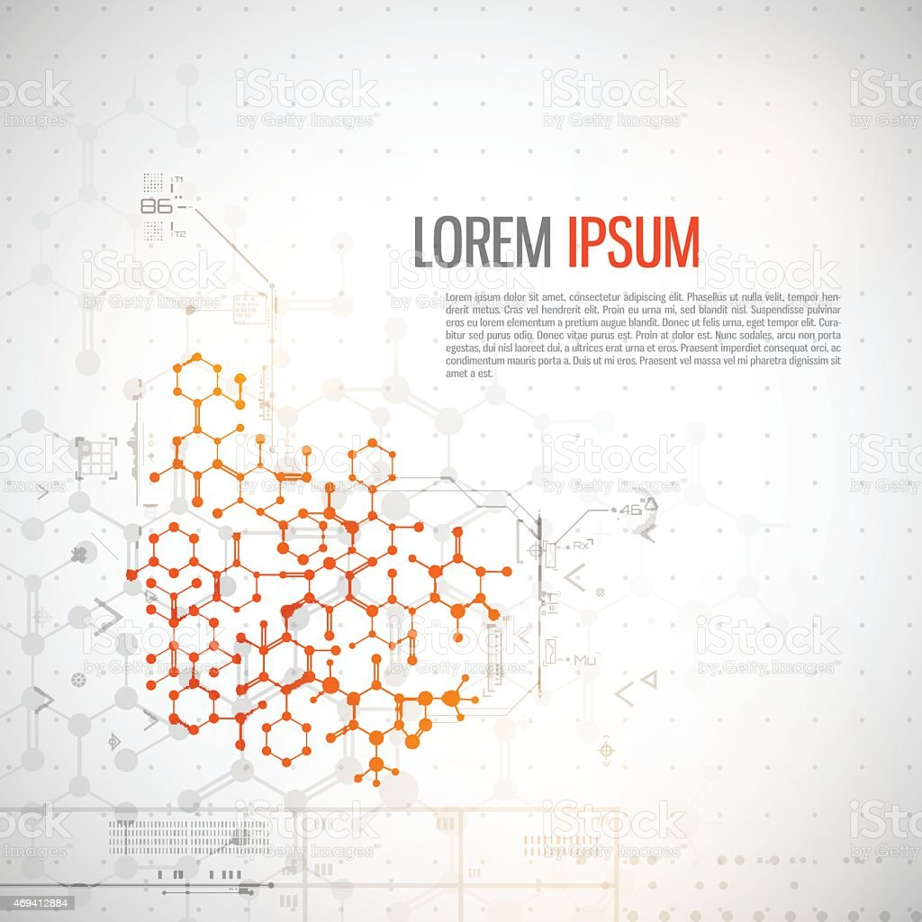 Lore ipsum abstract technology background vector art illustration