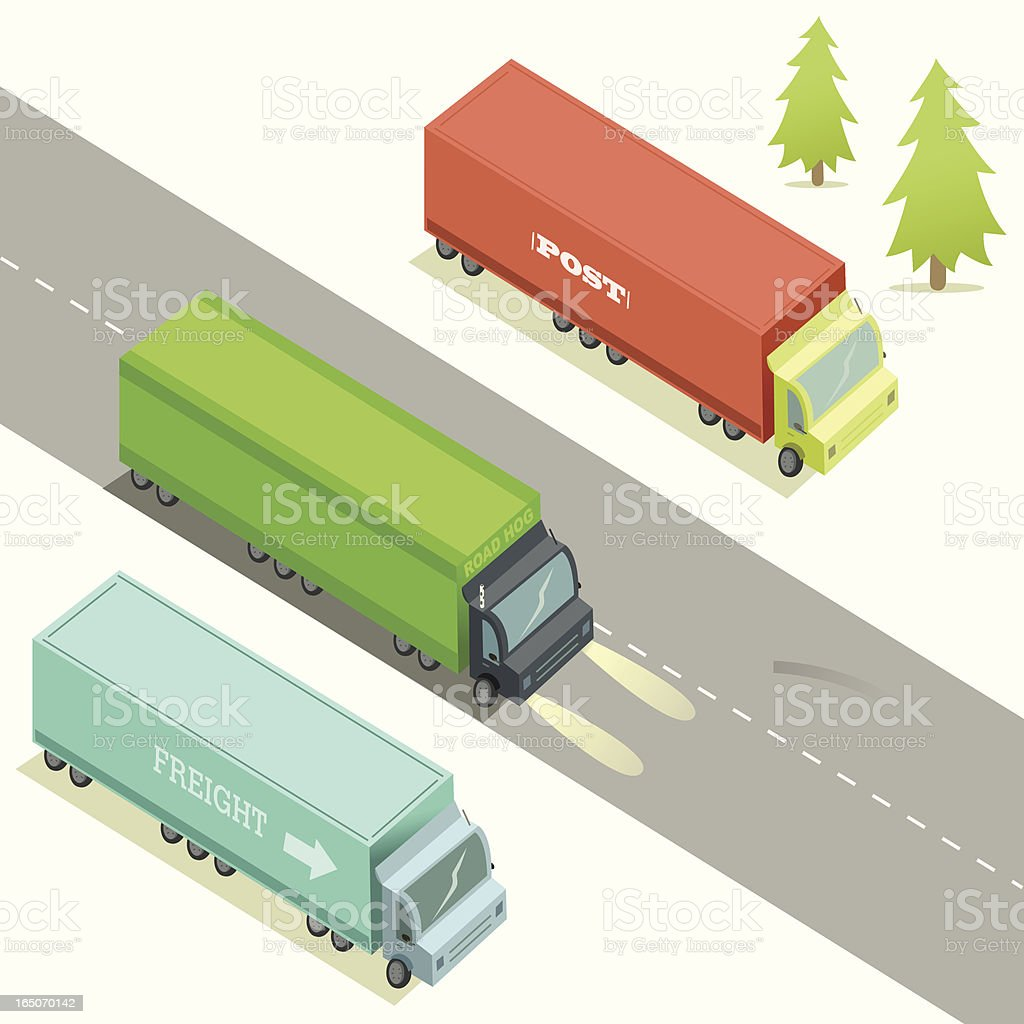 Lorries vector art illustration