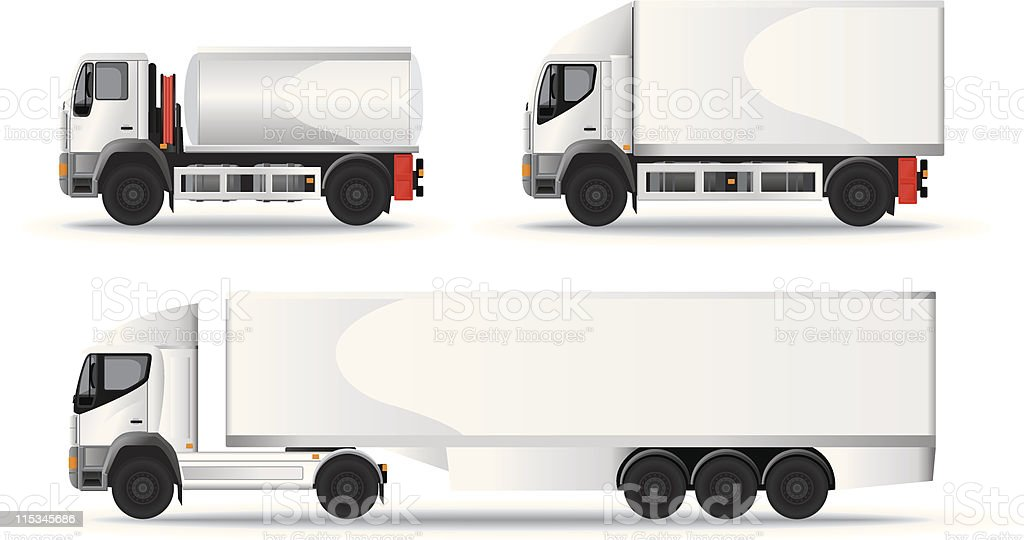Lorry Truck collection for Branding vector art illustration