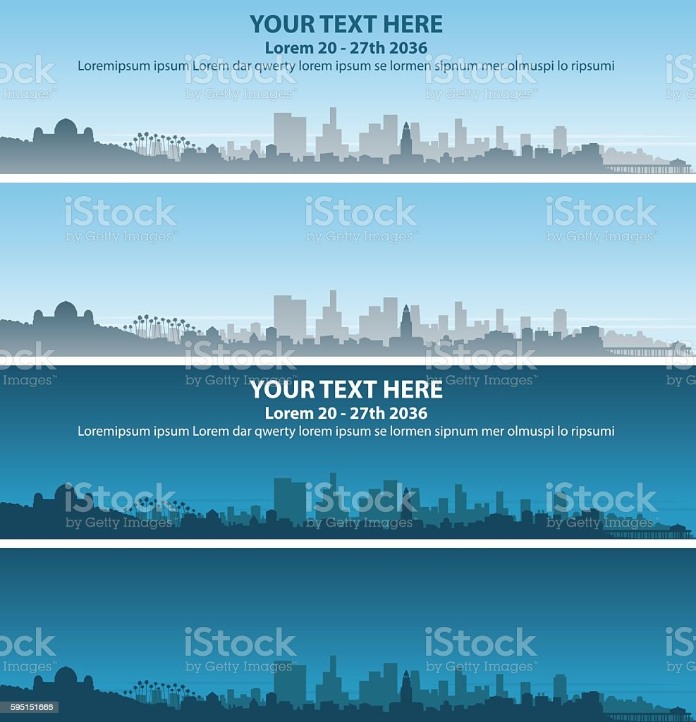 Los Angeles Event Banner vector art illustration