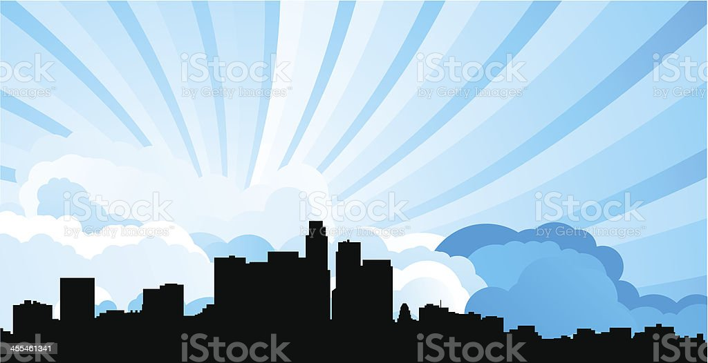 Los Angeles Skyline royalty-free stock vector art