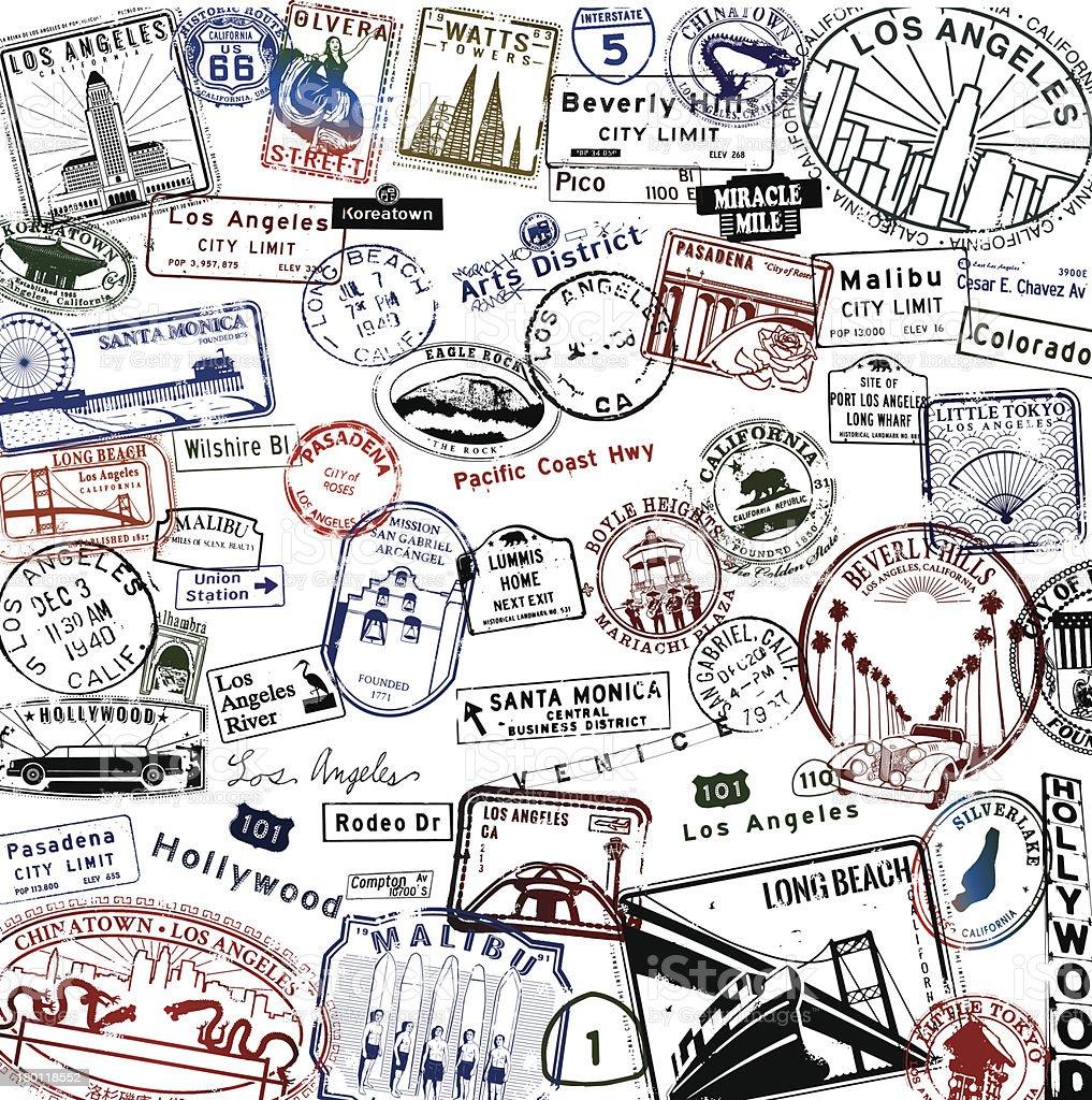 Los Angeles Super Passport royalty-free stock vector art