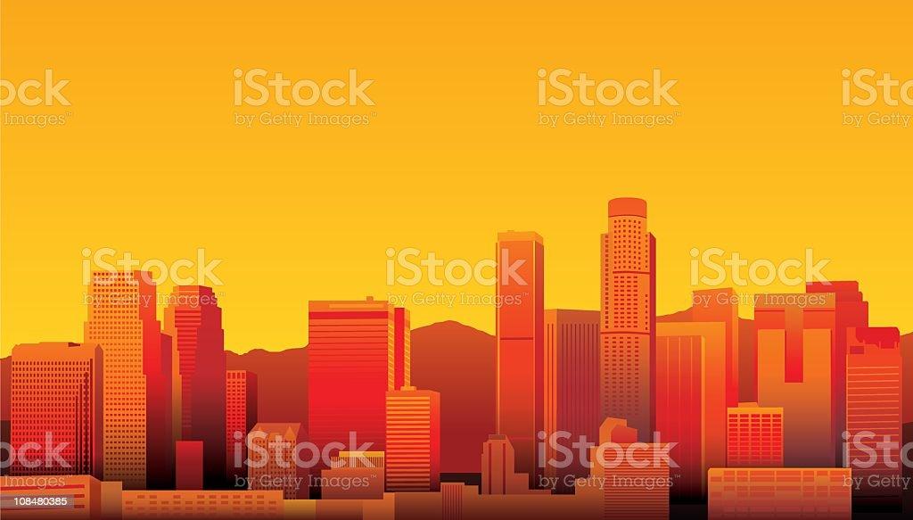 Los Angeles royalty-free stock vector art