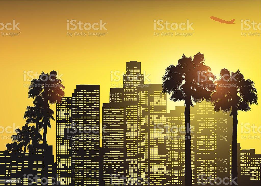 Los Angeles vector art illustration