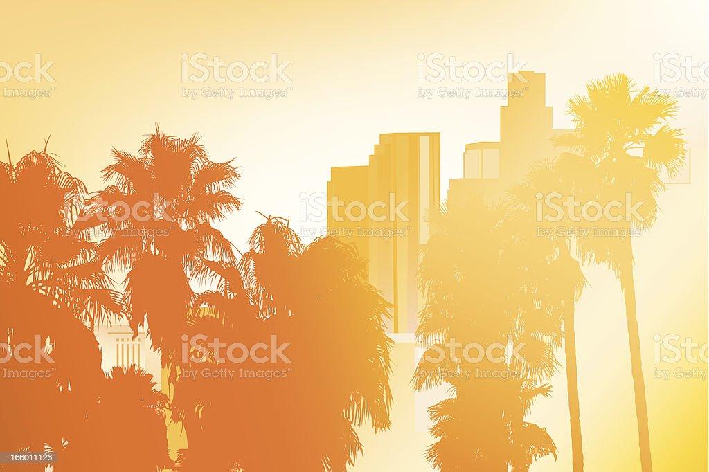 Los Angeles - Vector Illustration vector art illustration
