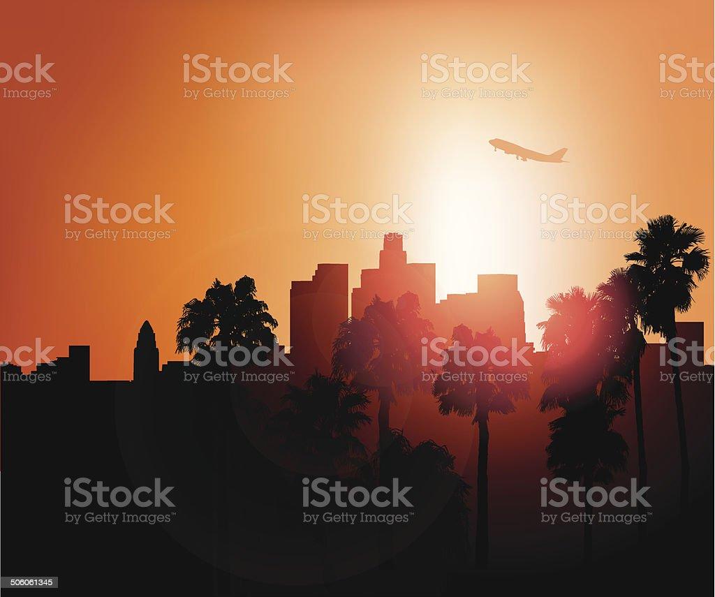 Los Angeles - Vector royalty-free stock vector art