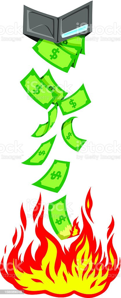 Losing money vector art illustration