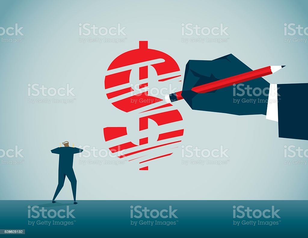 Loss vector art illustration