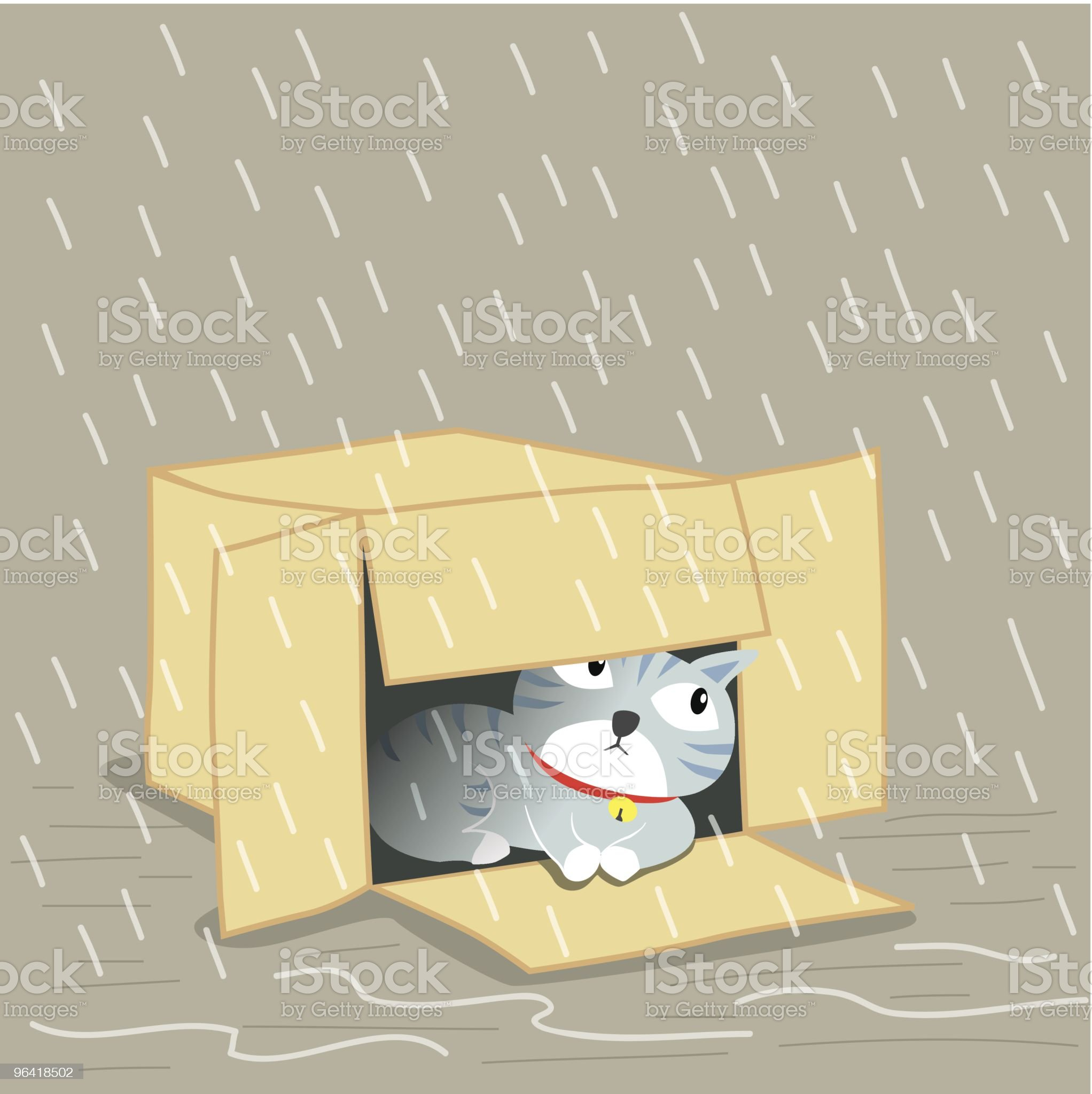 Lost Cat royalty-free stock vector art
