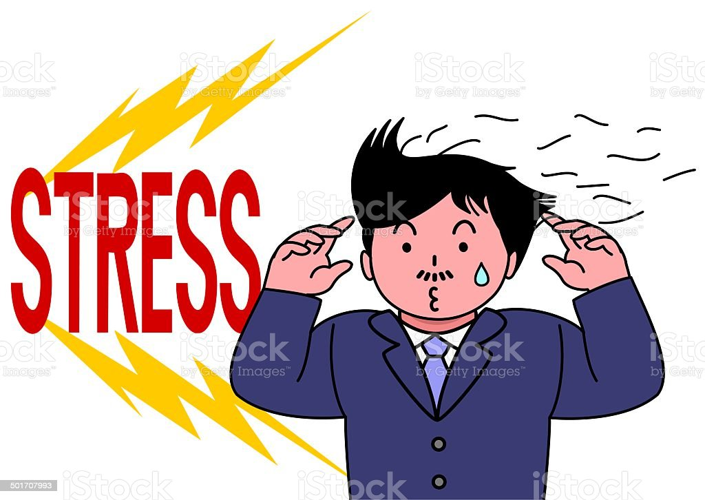 lost hair by getting stress royalty-free stock vector art