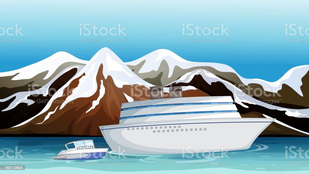 Lost ship royalty-free stock vector art