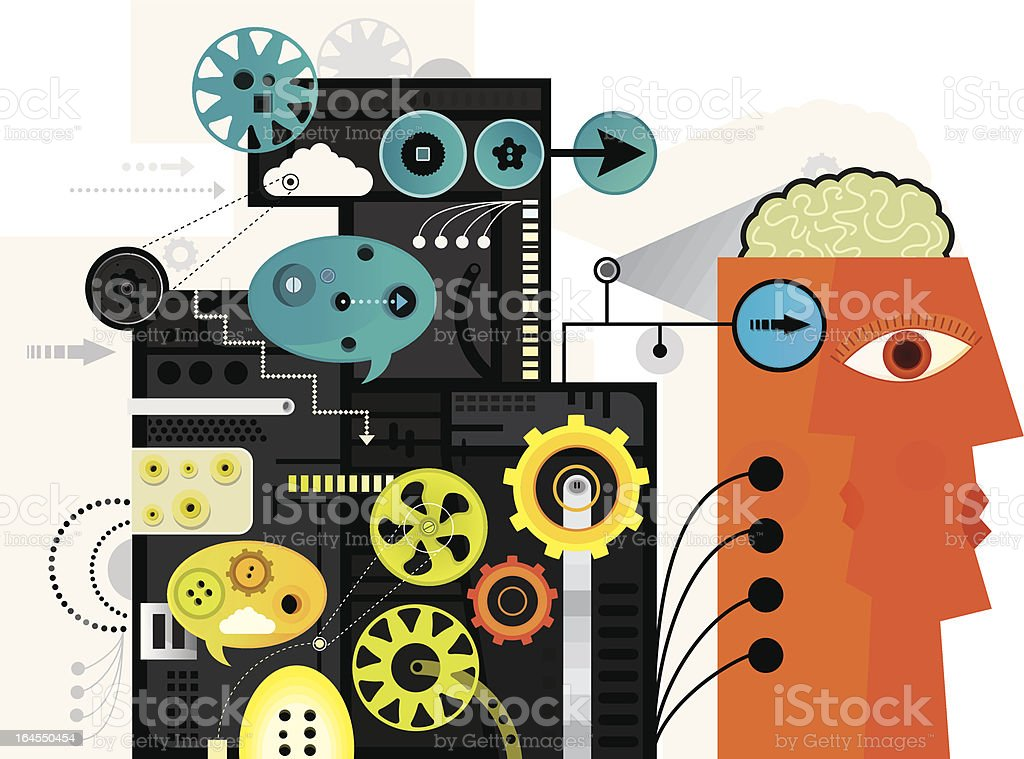 Lost Without Technology royalty-free stock vector art
