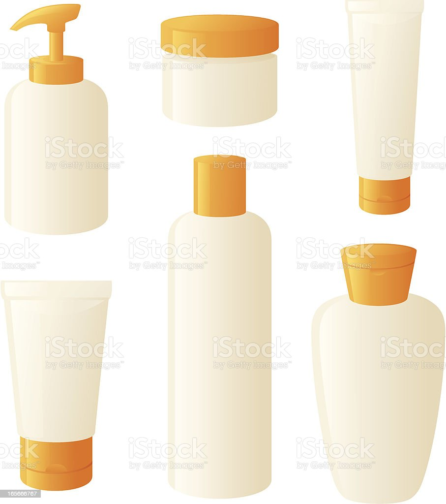 Lotions and Potions vector art illustration