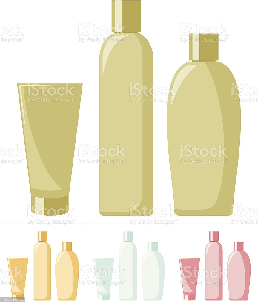 Lotions and Soaps vector art illustration