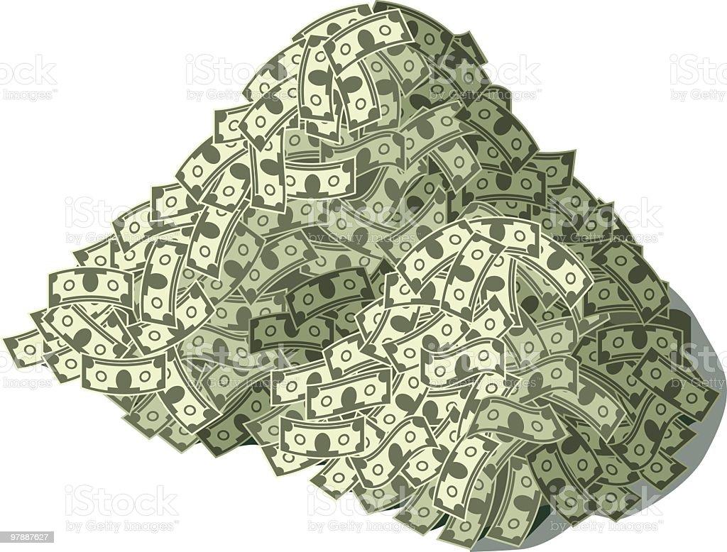 Lots of cash vector art illustration