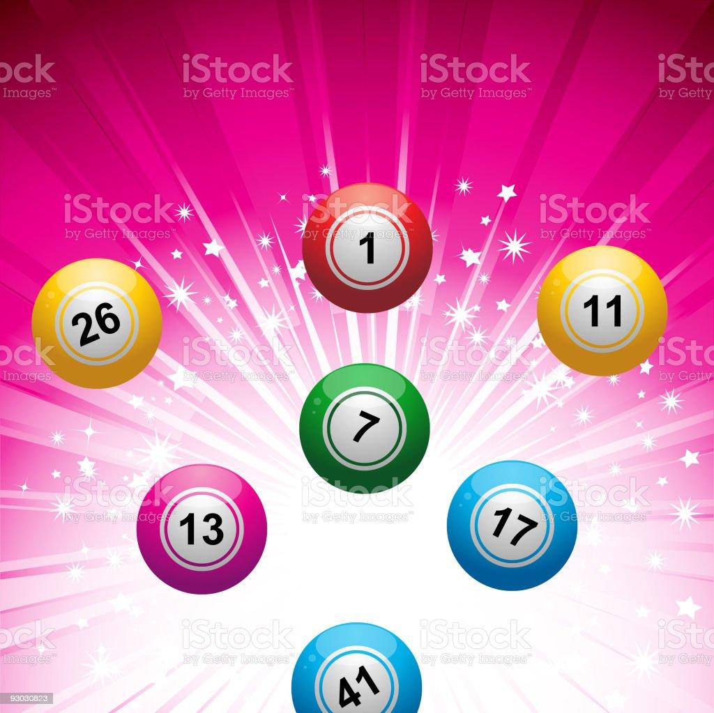 lottery ball background vector art illustration