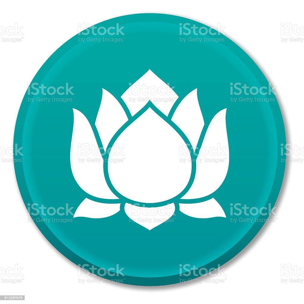 Lotus Blossom Wellbeing Symbol vector art illustration