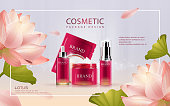 Lotus cosmetic ads template