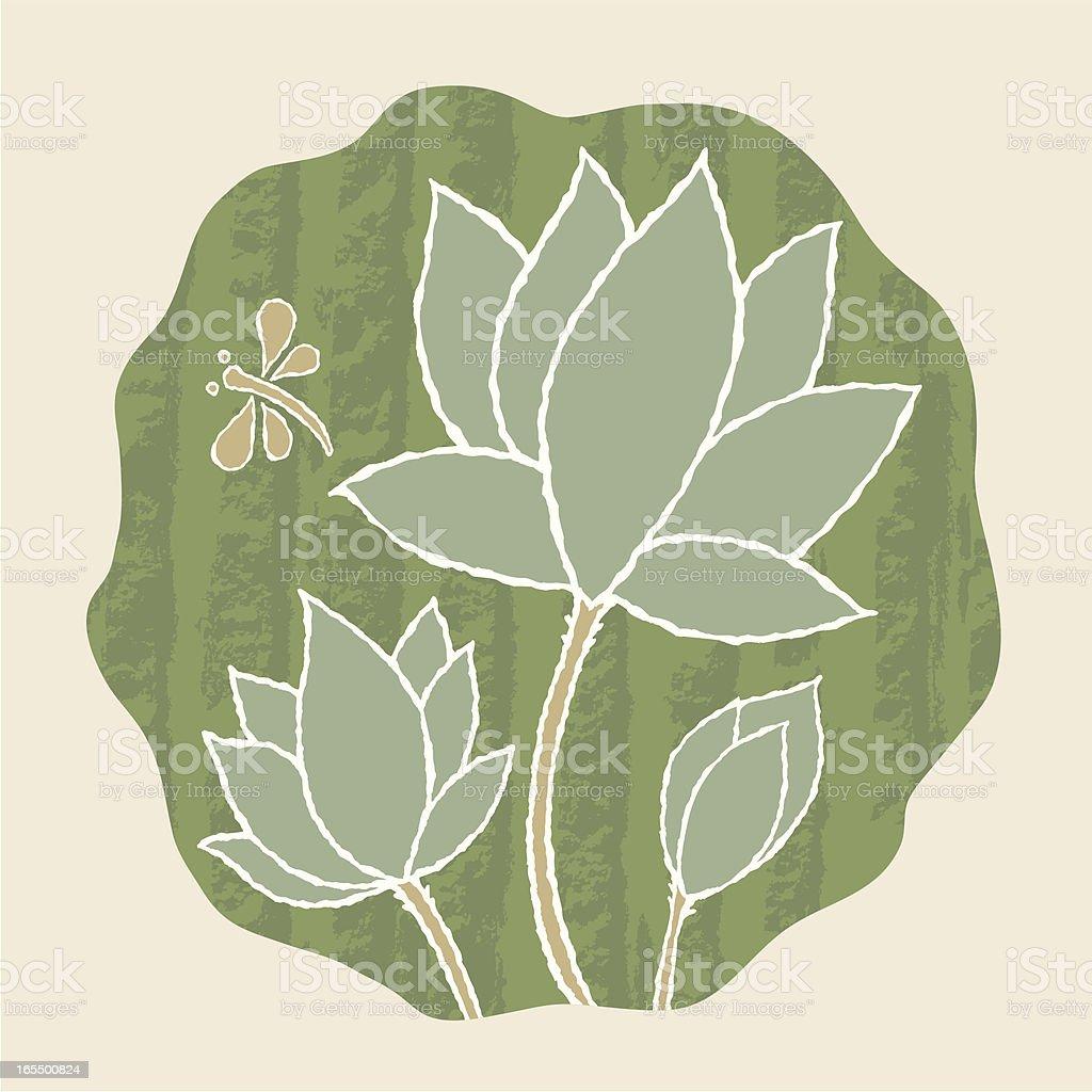 Lotus Flower Icon royalty-free stock vector art
