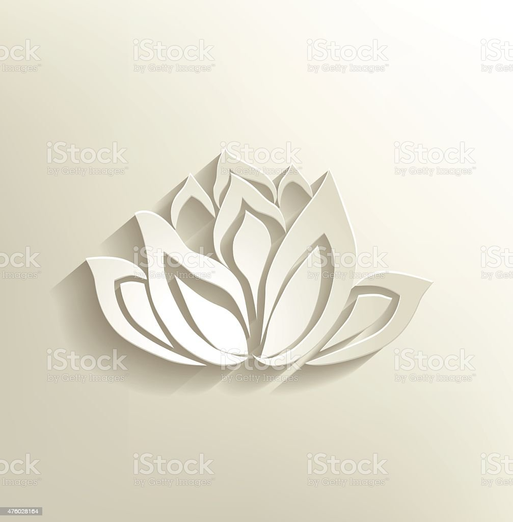 lotus flower logo vector art illustration