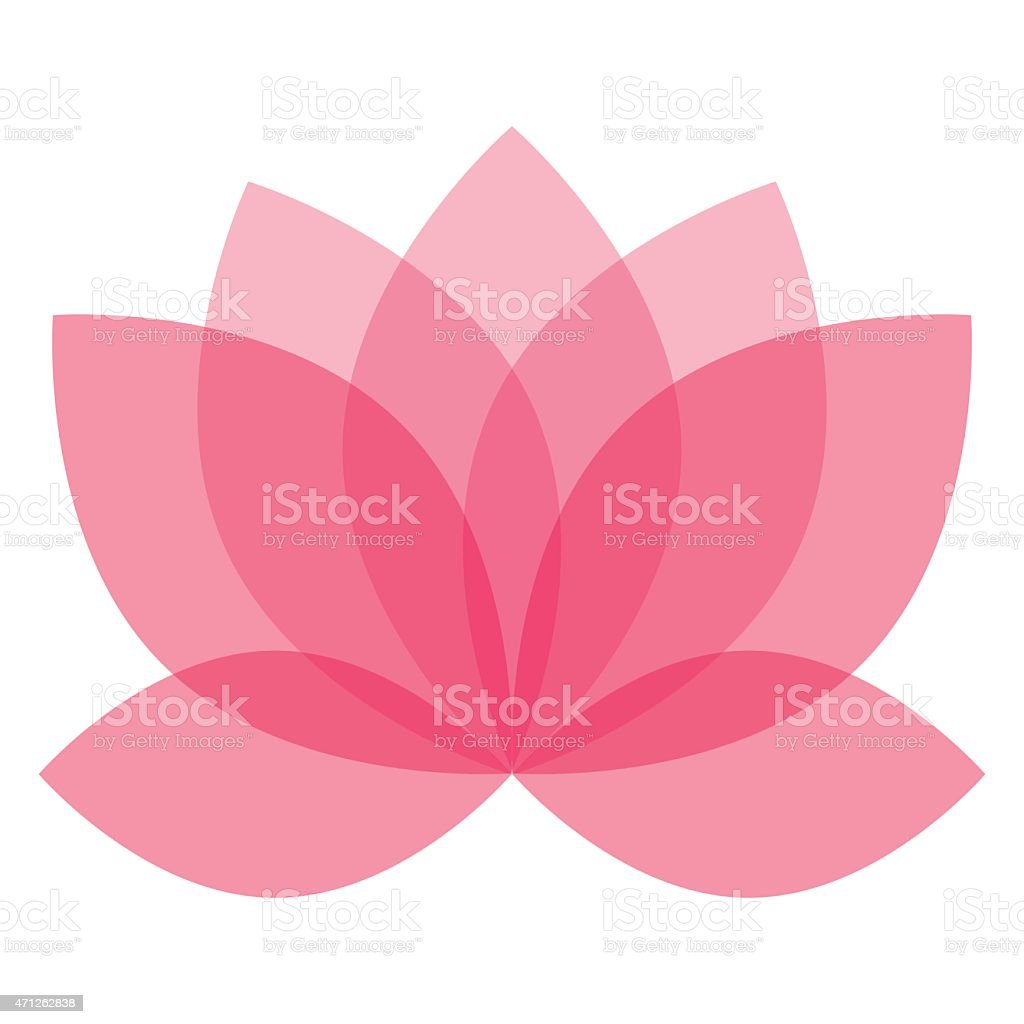Lotus flower vector in shades of pink vector art illustration