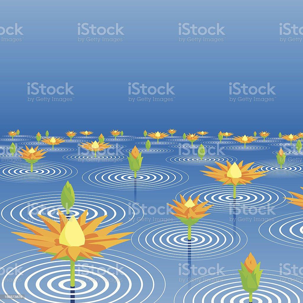 Lotus lake royalty-free stock vector art