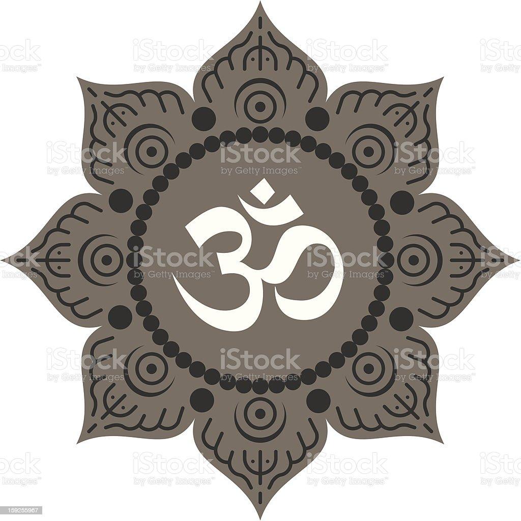 Lotus Om mandala royalty-free stock photo