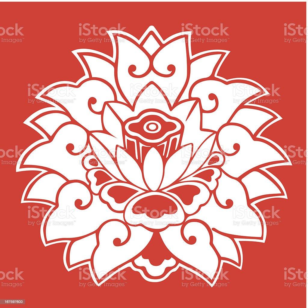 Lotus Pattern royalty-free stock vector art