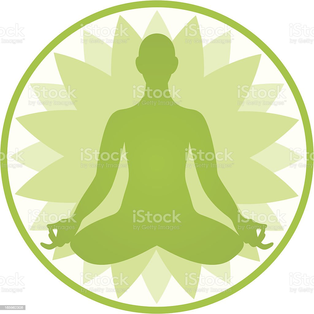 Lotus position royalty-free stock vector art