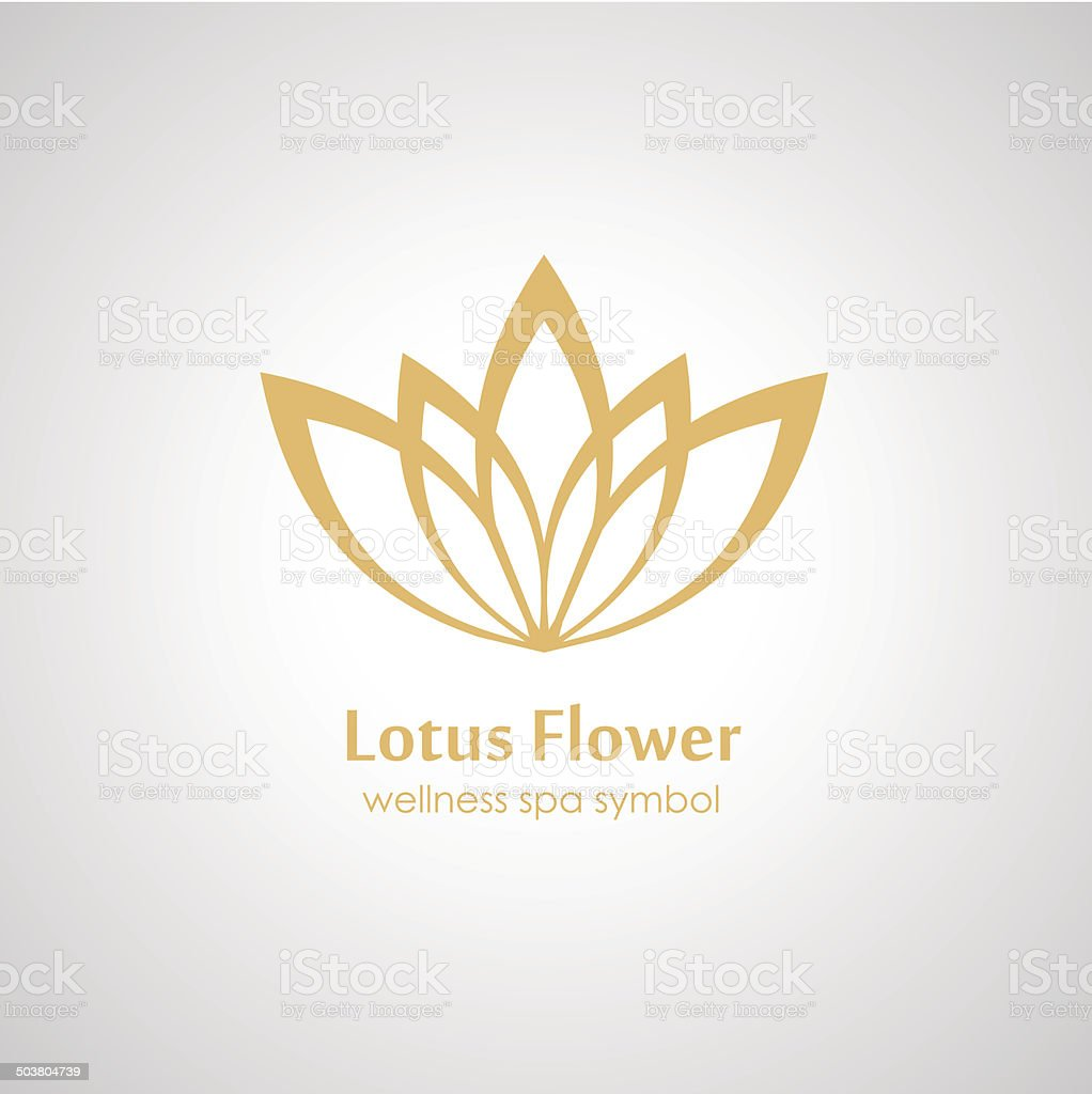 Lotus symbol icon vector art illustration