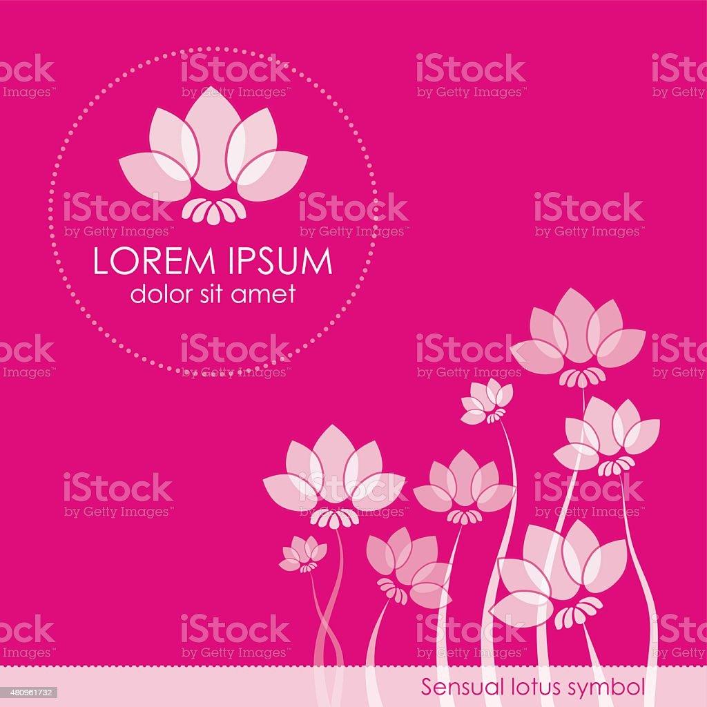 Lotus Symbol Logo vector art illustration