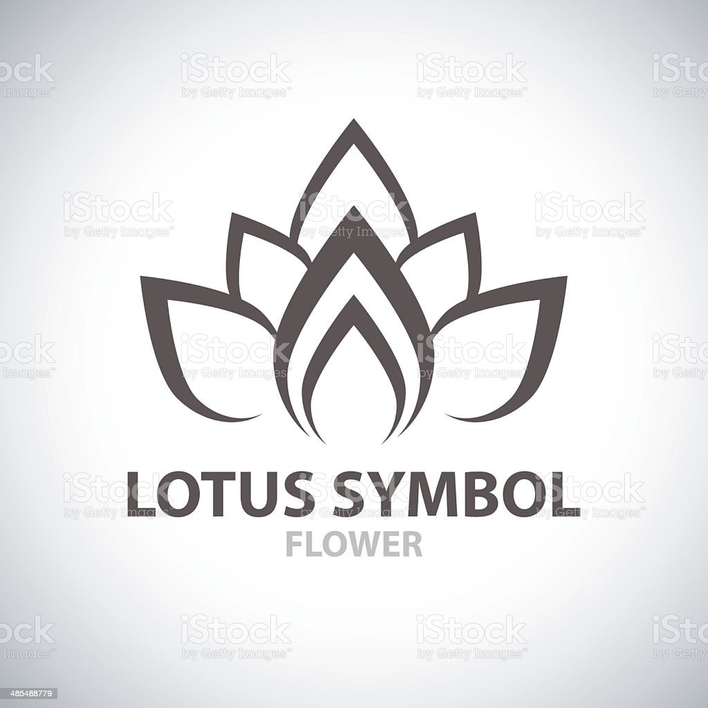 Lotus Symbol vector art illustration